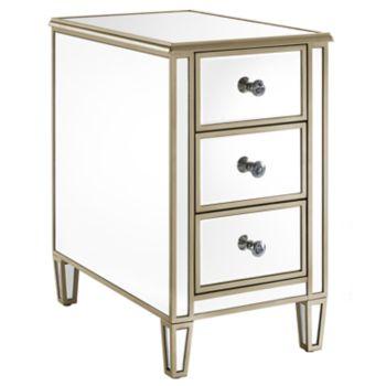 Pulaski Mirrored 3-Drawer End Table