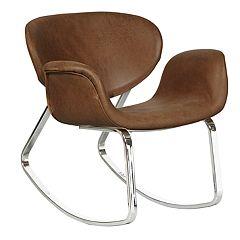 Pulaski Faux-Leather Rocking Chair