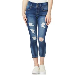 Juniors' Wallflower Skinny Capri Jeans