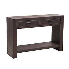 Pulaski Faux-Leather Console Table