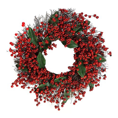St. Nicholas Square® Indoor Artificial Berry Christmas Wreath