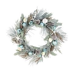 St. Nicholas Square® Indoor Artificial Coastal Christmas Wreath