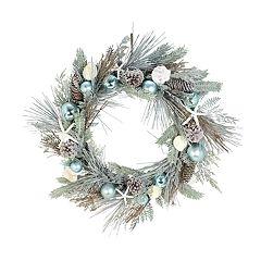 St. Nicholas Square® Indoor Artificial Coastal Christmas Wreath
