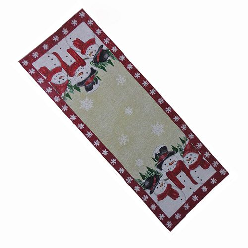 St. Nicholas Square® Snowman Tapestry Table Runner - 36""