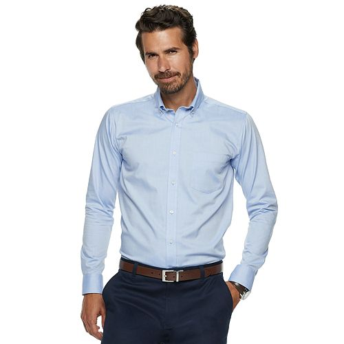 Men's Chaps Pinpoint Oxford Button-Down Shirt