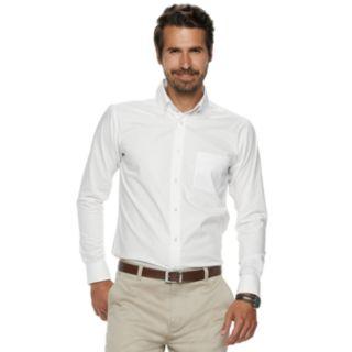 Men's Chaps Pinpoint Oxford Button-Down Shirt