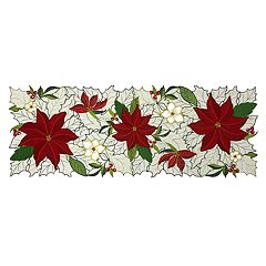 St. Nicholas Square® Poinsettia Table Runner - 36'