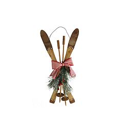 St. Nicholas Square® Artificial Pine Rustic Skis Wall Decor