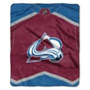 Colorado Avalanche Jersey Raschel Throw by Northwest