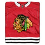 Chicago Blackhawks Jersey Raschel Throw by Northwest