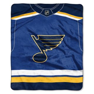 St. Louis Blues Jersey Raschel Throw by Northwest
