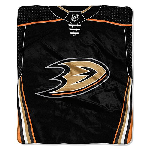 Anaheim Ducks Jersey Raschel Throw by Northwest