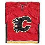 Calgary Flames Jersey Raschel Throw by Northwest