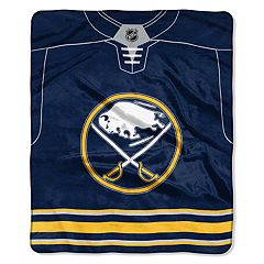 Buffalo Sabres Jersey Raschel Throw by Northwest