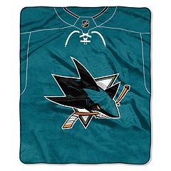 San Jose Sharks Jersey Raschel Throw by Northwest