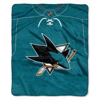 San Jose Sharks Jersey Raschel Throw by Northwest
