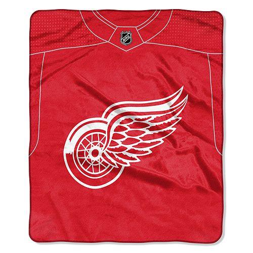 Detroit Red Wings Jersey Raschel Throw by Northwest