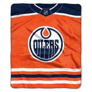Edmonton Oilers Jersey Raschel Throw by Northwest