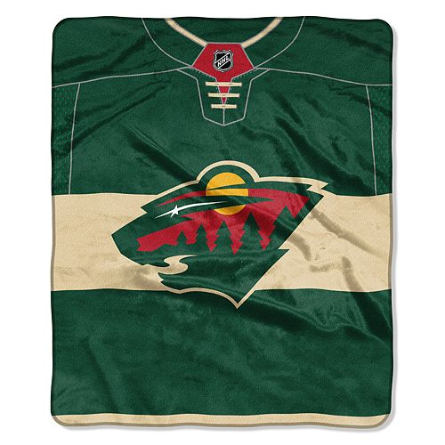 Minnesota Wild Jersey Raschel Throw by Northwest