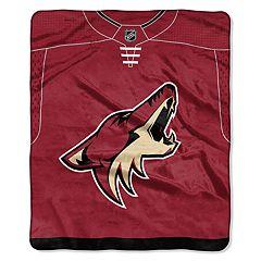 Arizona Coyotes Jersey Raschel Throw by Northwest