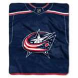 Columbus Blue Jackets Jersey Raschel Throw by Northwest