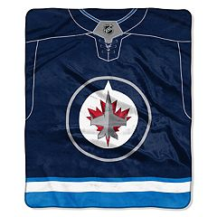 Winnipeg Jets Jersey Raschel Throw by Northwest