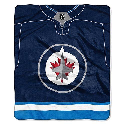 Winnipeg Jets Jersey Raschel Throw by Northwest