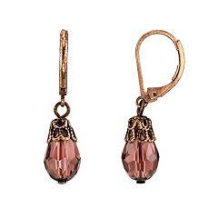 1928 Simulated Crystal Drop Earrings