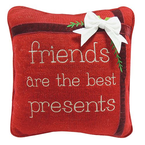 "St. Nicholas Square® ""Friends"" Mini Throw Pillow"