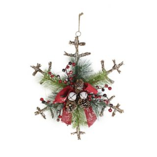 St. Nicholas Square® Artificial Pine Rustic Snowflake Wall Decor