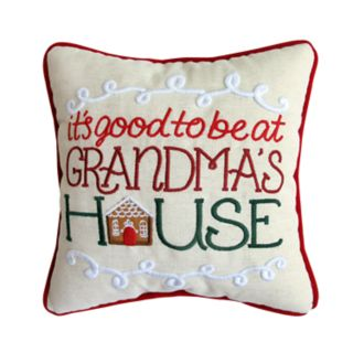 "St. Nicholas Square® ""Grandma's House"" Mini Throw Pillow"