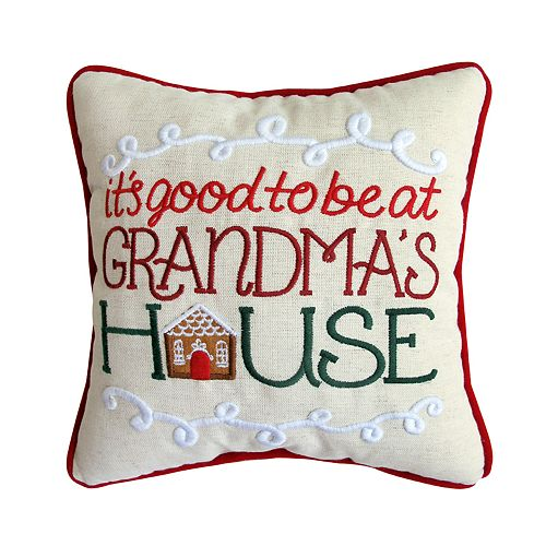 "St. Nicholas Square® ""Grandma's House"" Mini Throw Pillow"