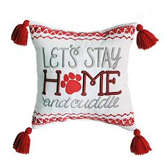 St. Nicholas Square® 'Stay Home & Snuggle' Mini Throw Pillow