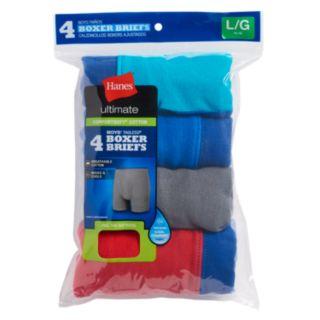 Boys 4-20 Hanes Comfort Cotton 4-Pack Boxer Briefs