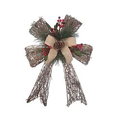 St. Nicholas Square® Light-Up Artificial Pine Bow Wall Decor