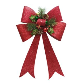 St. Nicholas Square® Light-Up Bow Christmas Wall Decor