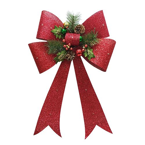 St. Nicholas Square® Light-Up Bow Christmas Wall Decor