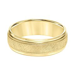 Men's 14k Gold Florentine Wedding Band