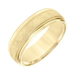 Men's 14k Gold Florentine Wedding Band