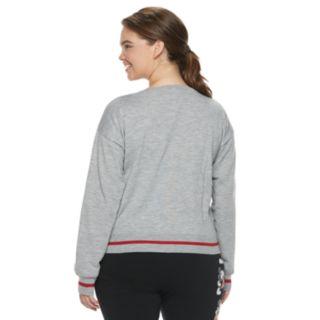 Disney's Mickey Mouse 90th Anniversary Juniors' Plus Size Intarsia Sweater