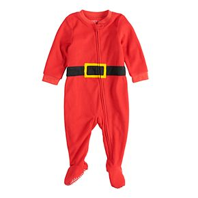 Baby/Infant Jammies For Your Families Santa Suit Microfleece Blanket Sleep One-Piece Pajamas