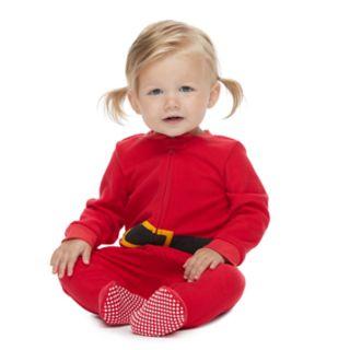 Baby/Infant Jammies For Your Families Santa Suit Microfleece Blanket Sleep One-Piece Pajamas