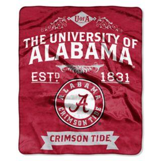 Alabama Crimson Tide Label Raschel Throw by Northwest