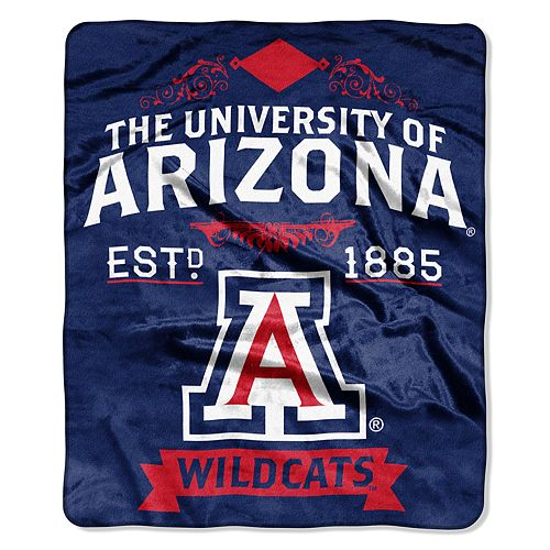 Arizona Wildcats Label Raschel Throw by Northwest