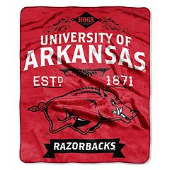 Arkansas Razorbacks Label Raschel Throw by Northwest