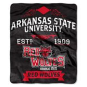 Arkansas State Red Wolves Label Raschel Throw by Northwest