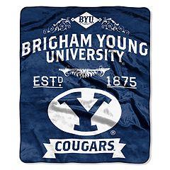 BYU Cougars Label Raschel Throw by Northwest