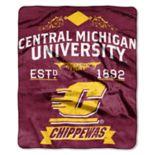 Central Michigan Chippewas Label Raschel Throw by Northwest