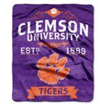 Clemson Tigers Label Raschel Throw by Northwest