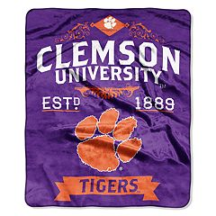 Clemson Tigers Label Raschel Throw by Northwest